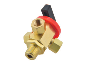 3 way selector valve brass